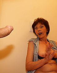 Mature slut sucking and fucking on a toilet
