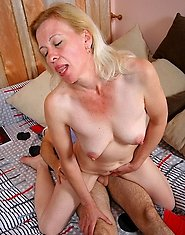 Blonde mom in a ride