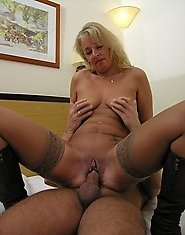 Kinky mature slut fucking and sucking